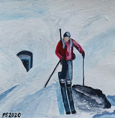 Peter Seiler, Skitour, People: Men, Landscapes: Mountains, Concrete Art