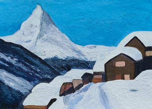 Peter Seiler, Findeln VS Switzerland, Landscapes: Mountains, Modern Times, Expressionism