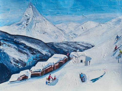 Peter Seiler, Skiing in Switzerland in the 1970s, Landscapes: Mountains, Modern Times