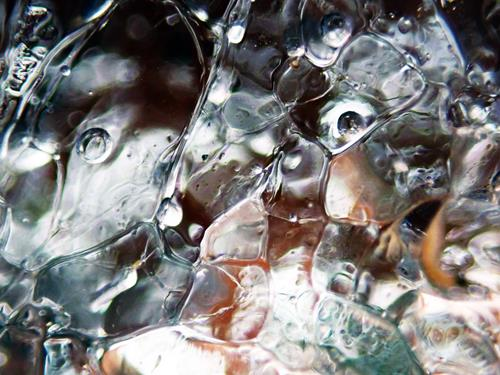 Andrea Kasper, Fantasie von Winter und letztem Eis, Abstract art, Nature: Water, Contemporary Art