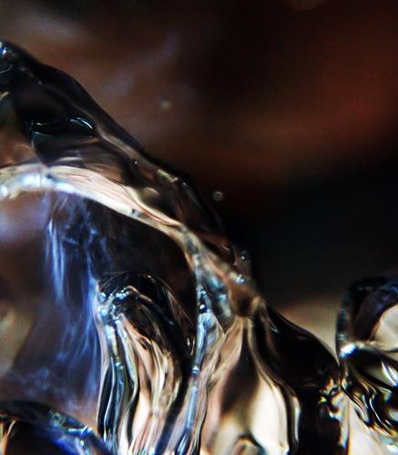 Andrea Kasper, Auf dem Grund im Dämmerlicht, Abstract art, Nature: Water, Contemporary Art