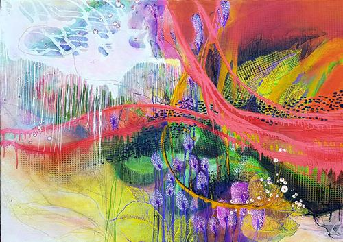 Vera Weber, FRAGIL III, Plants, Emotions: Joy, Expressionism