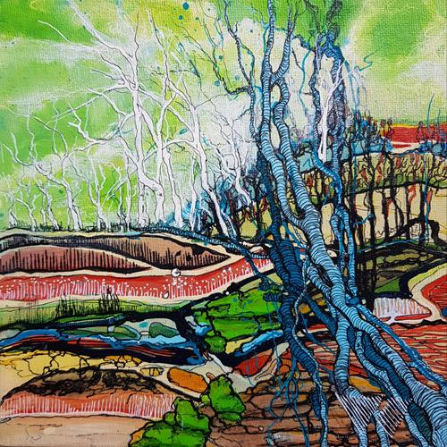 Vera Weber, FRAGILITY XI, Nature, Fantasy, Expressive Realism, Expressionism
