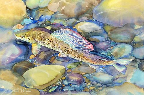 Joseph Wyss, Aeschenmännchen, Animals: Water, Nature: Rock, Contemporary Art