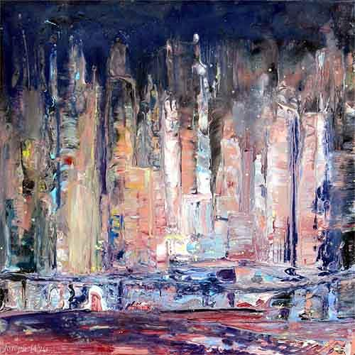 Joseph Wyss, N/T, Abstract art, Buildings: Skyscrapers, Contemporary Art