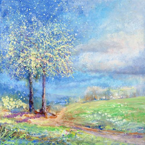 Joseph Wyss, Frühling, Landscapes: Spring, Nature: Miscellaneous, Contemporary Art, Expressionism