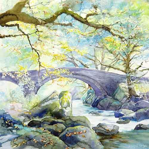 Joseph Wyss, Brücke, Miscellaneous Landscapes, Nature: Wood, Contemporary Art