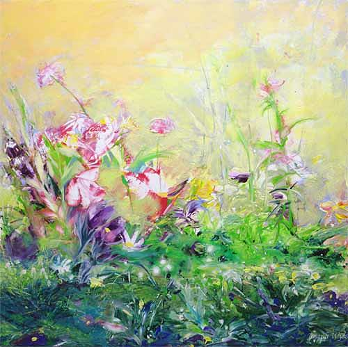 Joseph Wyss, Frühling, Plants: Flowers, Landscapes: Spring, Contemporary Art, Expressionism