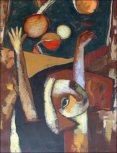 Pablo Peréa, Composición Con Naranja, People: Women, Plants: Fruits