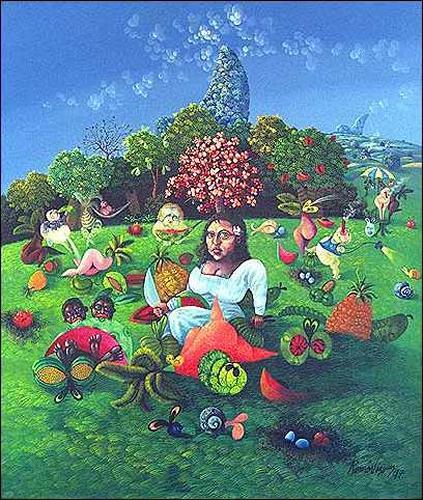 Ramón Vázquez, Aires de Gioconda, People: Women, Plants: Flowers