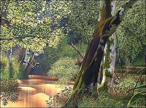 Eduardo Estrada, Aguas revueltas, Nature: Wood, Plants: Trees, Expressionism