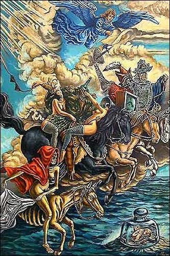 Omar Gonzáles, Los Jinetes del Apocalípsis, Religion, War