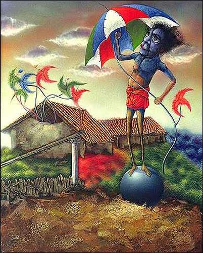 Ulises Hevia Bretaña, Una sombrilla para el mundo, Fantasy, Humor, Expressionism