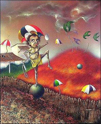 Ulises Hevia Bretaña, El equilibrista, Movement, Humor, Expressionism