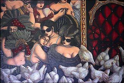 Augusto Bordelois, Viviendo sin el gallo, Symbol, People: Women, Expressionism