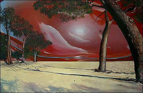 José Buajasán, Paisaje, Landscapes: Beaches, Plants: Trees, Expressionism
