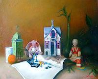 Ghenadie-SONTU-Romantic-motifs-People-Children-Modern-Times-Realism