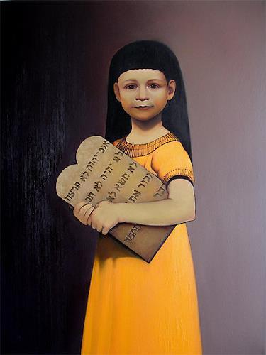 Ghenadie SONTU, Moses - ten commandments, Religion, People: Portraits, Realism