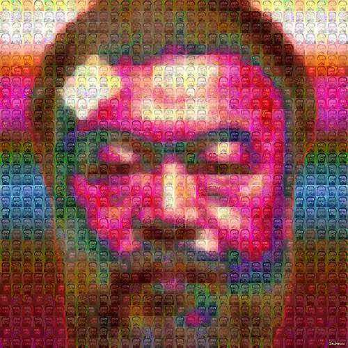 Dieter Bruhns, 03 mosaic, People: Faces, Emotions: Depression, Contemporary Art, Abstract Expressionism