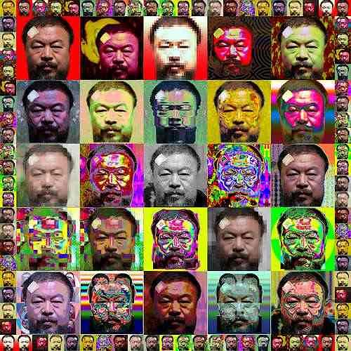 Dieter Bruhns, freeWeiwei025, Society, People: Faces, Contemporary Art