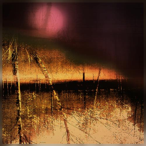 Dieter Bruhns, Red Moon, Landscapes: Summer, Landscapes: Plains, Contemporary Art, Expressionism