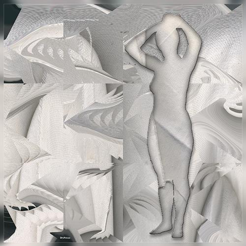 Dieter Bruhns, In Dry Towels, Fantasy, Abstract Art