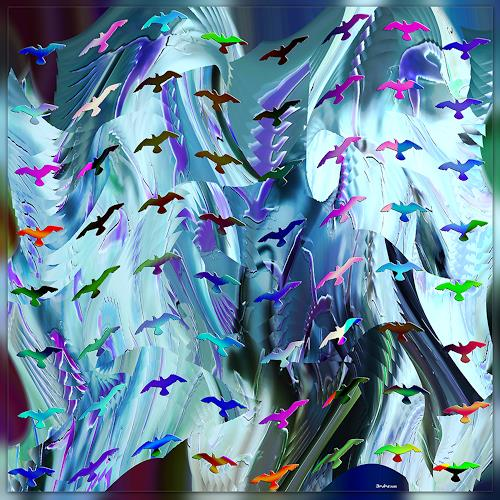 Dieter Bruhns, Slow Motion, Abstract art, Abstract Art