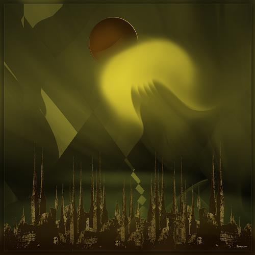 Dieter Bruhns, Lunar Eclipse, Fantasy, Abstract Art