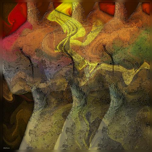 Dieter Bruhns, Torsi, Fantasy, Abstract Art