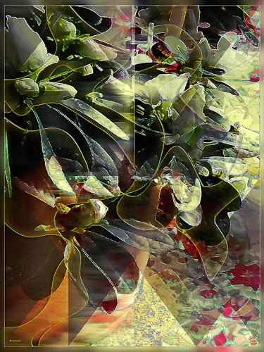 Dieter Bruhns, Floral Impression, Abstract art, Abstract Art
