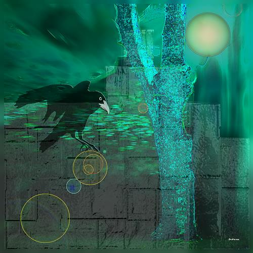 Dieter Bruhns, Catch as Catch can, Fantasy, Abstract Art