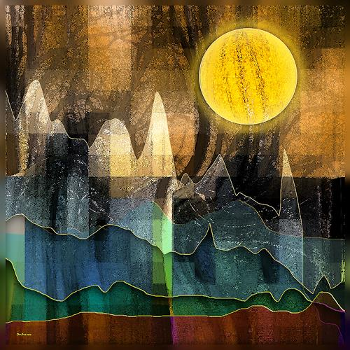 Dieter Bruhns, Speaking to the Horizon, Fantasy, Abstract Art