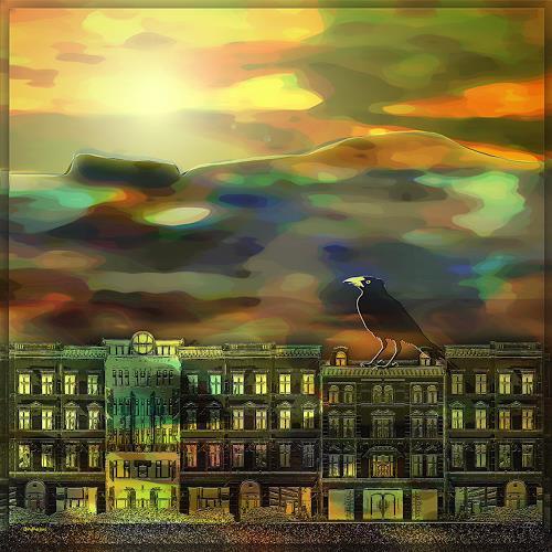 Dieter Bruhns, Habitat, Fantasy, Abstract Art