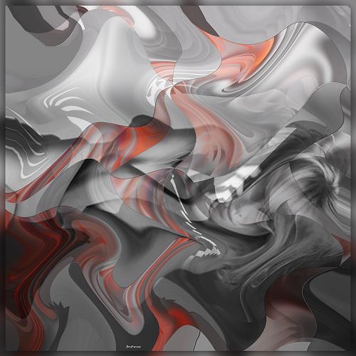 Dieter Bruhns, Flattering Waves, Fantasy, Abstract Art
