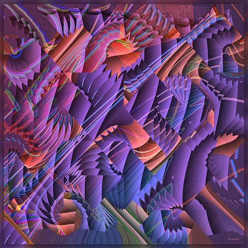 Dieter Bruhns, Sometimes, Fantasy, Abstract Art