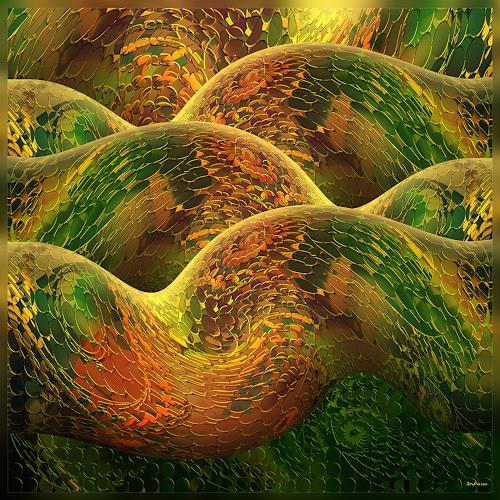 Dieter Bruhns, Color Snake, Fantasy, Abstract Art, Abstract Expressionism