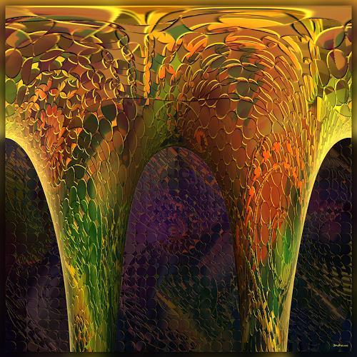 Dieter Bruhns, Stalaktit, Fantasy, Abstract Art