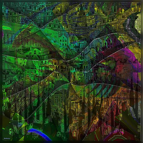 Dieter Bruhns, Changing City, Fantasy, Abstract Art