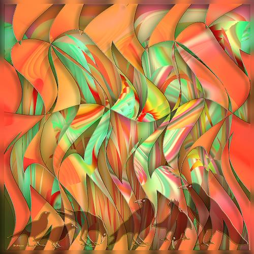 Dieter Bruhns, Springtime, Fantasy, Abstract Art