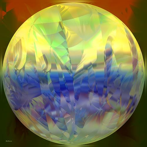 Dieter Bruhns, Glowing Bubble, Fantasy, Abstract Art