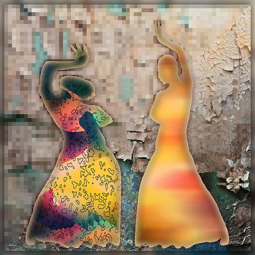 Dieter Bruhns, Blur Dance, Fantasy, Abstract Art