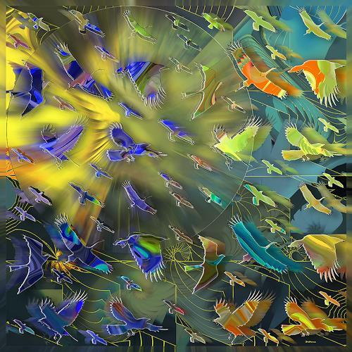 Dieter Bruhns, Luminescence, Fantasy, Abstract Art