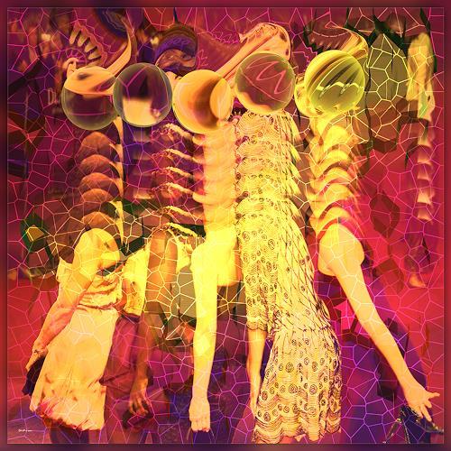 Dieter Bruhns, Giraffes, Fantasy, Abstract Art