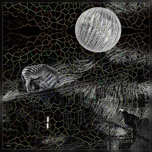 Dieter Bruhns, Silver Moon, Fantasy, Abstract Art