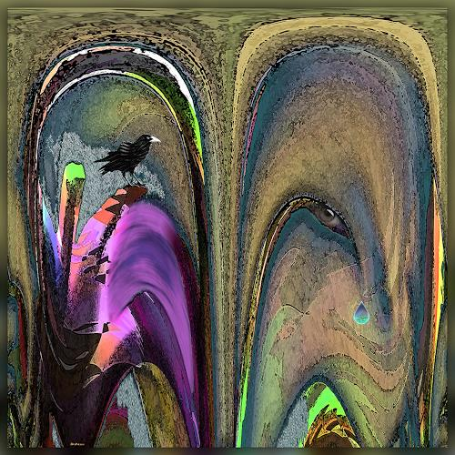 Dieter Bruhns, Neighborhood, Fantasy, Abstract Art