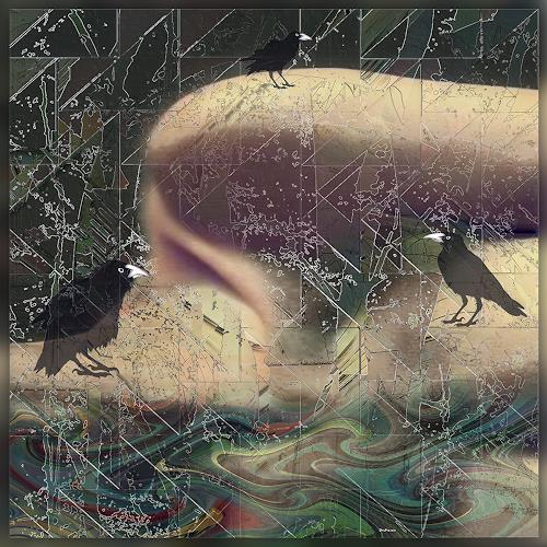 Dieter Bruhns, Three Crows, Fantasy, Abstract Art