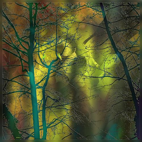 Dieter Bruhns, Atmosphere, Fantasy, Abstract Art, Expressionism