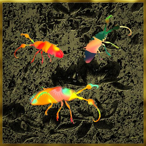 Dieter Bruhns, Beetles, Fantasy, Abstract Art