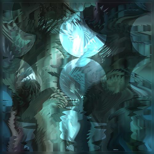 Dieter Bruhns, Moon Walk, Fantasy, Abstract Art