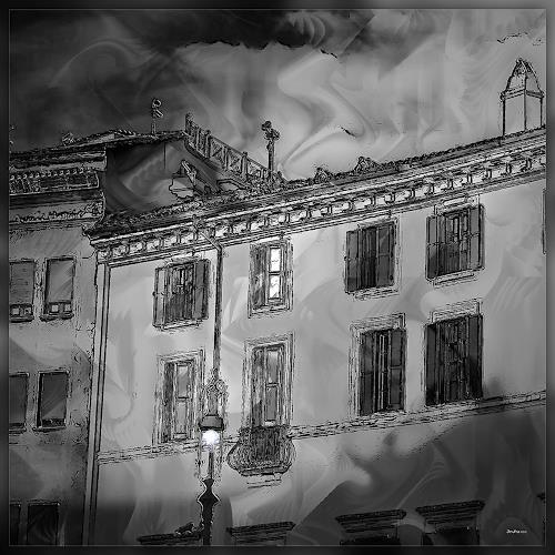 Dieter Bruhns, Creeping Shadows, Fantasy, Abstract Art